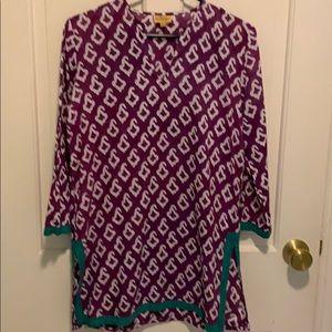 Roberta Roller Rabbit purple tunic